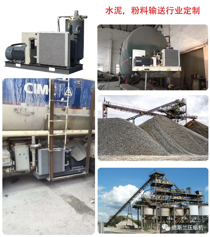 水泥输送行业定制低压螺杆机